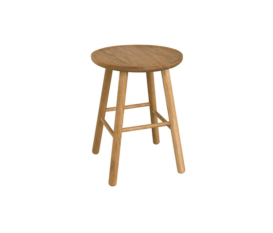 ZigZag stool 47cm oak oiled by Hans K   Stools