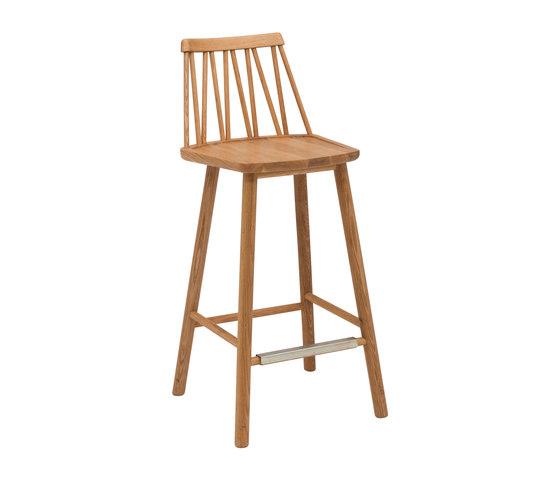 ZigZag barchair 63cm oak oiled by Hans K   Bar stools
