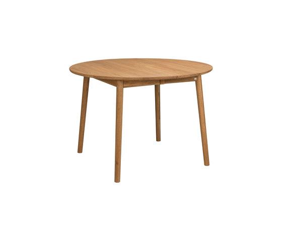 ZigZag table round 110(50)x110cm oak oiled de Hans K | Tables de repas