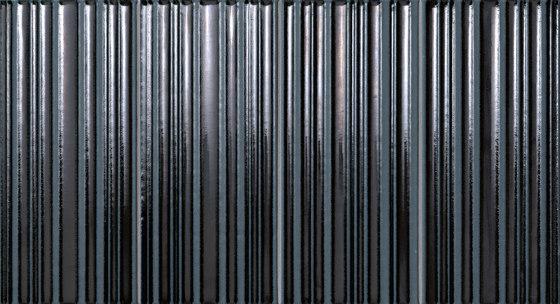 Milano&Wall Righe Metal Blu Inserto de Fap Ceramiche | Baldosas de cerámica