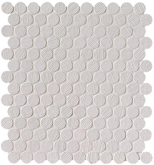 Milano&Wall Bianco Round Mosaico by Fap Ceramiche | Ceramic mosaics