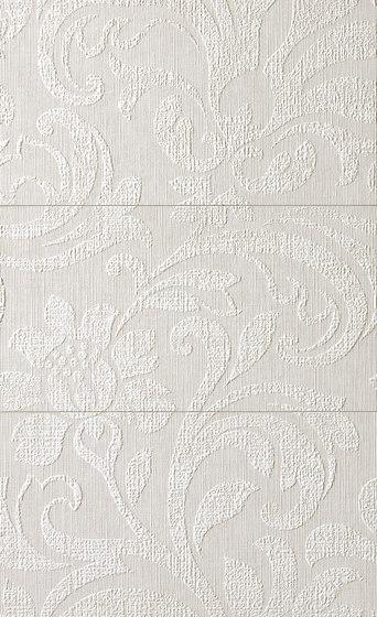 Milano&Wall Damasco Bianco Inserto Mix 3 di Fap Ceramiche | Piastrelle ceramica