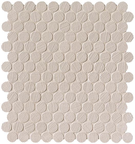 Milano&Wall Beige Round Mosaico by Fap Ceramiche | Ceramic mosaics