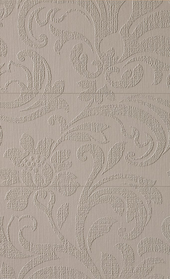Milano&Wall Damasco Tortora Inserto Mix 3 by Fap Ceramiche | Ceramic tiles