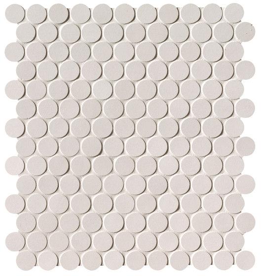 Milano&Floor Bianco Round Mosaico Matt de Fap Ceramiche | Mosaicos de cerámica
