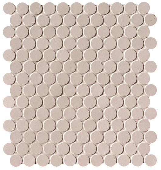 Milano&Floor Beige Round Mosaico Matt by Fap Ceramiche | Ceramic mosaics