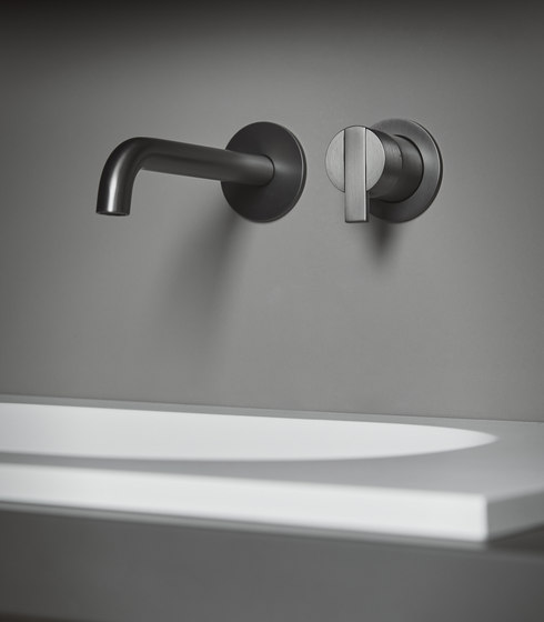 Code Wall-Mounted basin mixer by Inbani | Wash basin taps