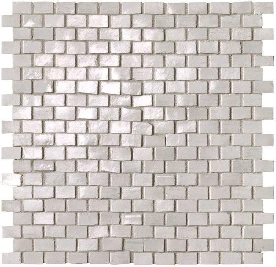 Brickell White Brick Mosaic Gloss by Fap Ceramiche   Ceramic mosaics
