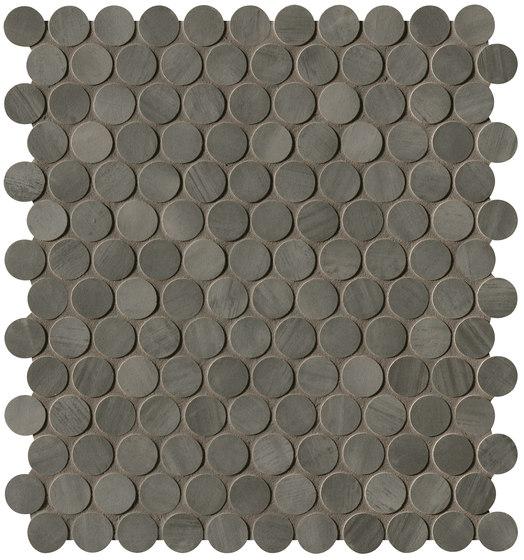 Brickell Grey Round Mosaico Matt de Fap Ceramiche | Mosaïques céramique