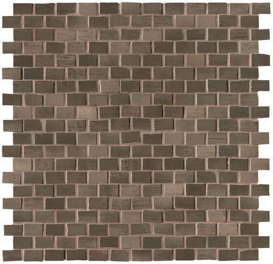 Brickell Brown Brick Mosaic Gloss de Fap Ceramiche | Mosaicos de cerámica