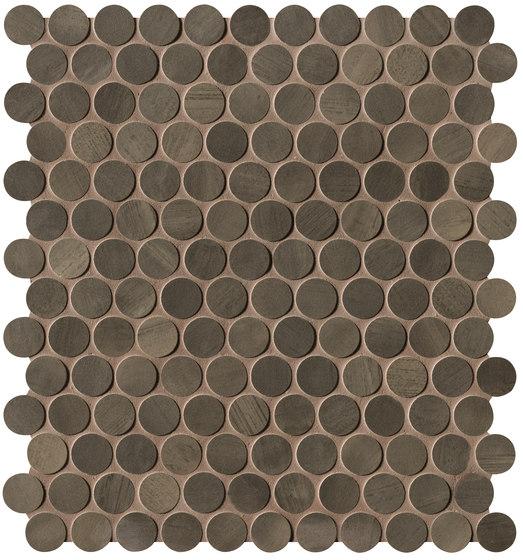 Brickell Brown Round Mosaico Matt de Fap Ceramiche | Mosaïques céramique