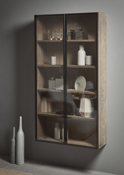 Strato Cabinet Mirror Aluminium glass door system by Inbani | Wall cabinets