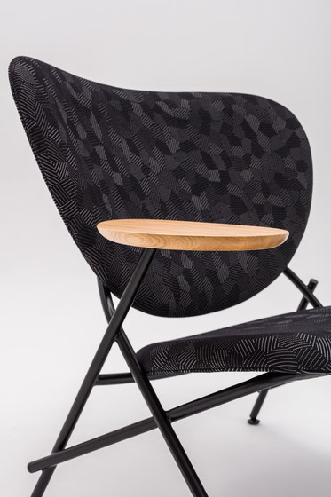 Calder Armchair with wooden side table by Comforty | Armchairs