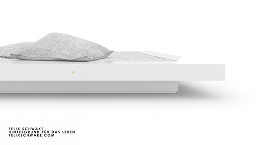 BED II special edition - Piano lacquer white by Rechteck | Beds