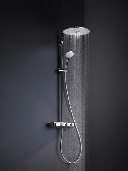 Euphoria SmartControl System 310 Duo Shower System with  thermostat for wall mounting by GROHE | Shower controls