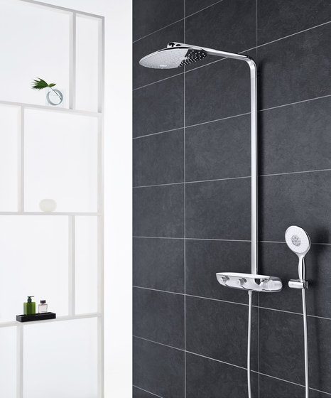Rainshower System SmartControl 360 Mono with thermostat for wall mounting by GROHE | Shower controls