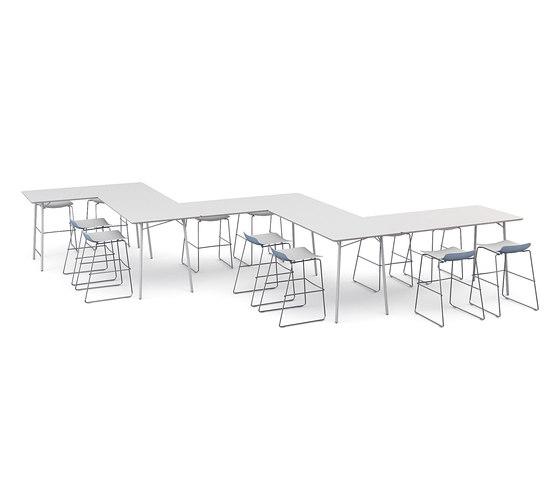 m.zone hot desk di Wiesner-Hager | Tavoli contract