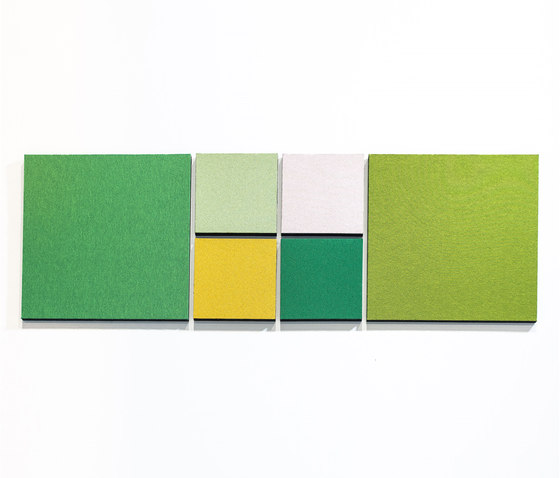 Acoustic tiles PUR12 by AOS | Sound absorbing wall systems