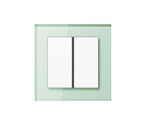A Creation F40 push button soft white glass de JUNG | Interruptores pulsadores