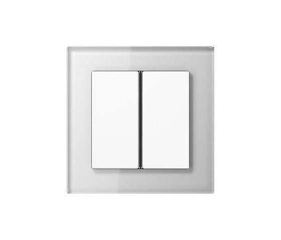 A Creation F40 push button white glass di JUNG | interuttori pulsante