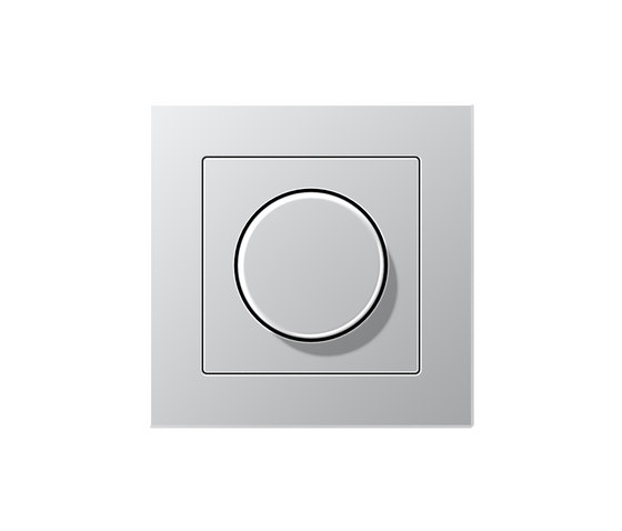 A Creation | rotary dimmer aluminium by JUNG | Rotary switches