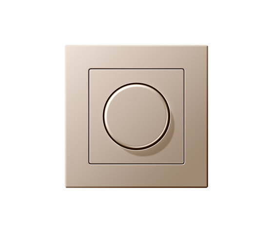 A Creation rotary dimmer champagne by JUNG | Rotary switches