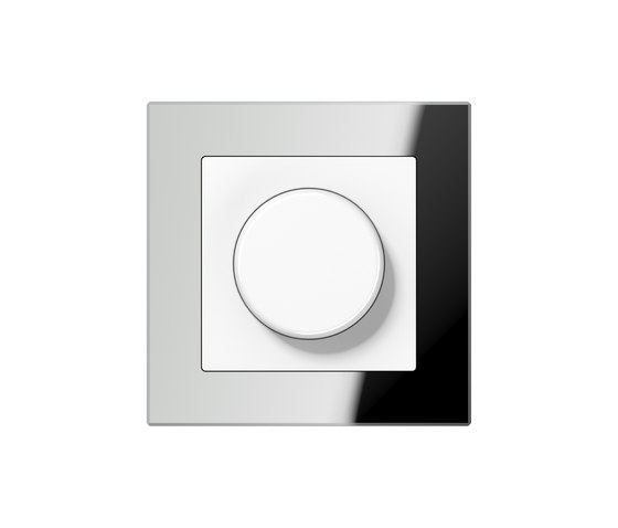 A Creation | rotary dimmer silver glass by JUNG | Rotary switches