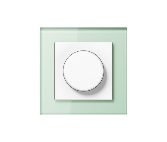 A Creation | rotary dimmer soft white glass by JUNG | Rotary switches