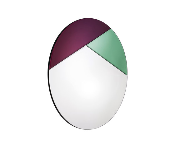 Nouveau 65 silver/emerald/burgundy by Reflections Copenhagen | Mirrors