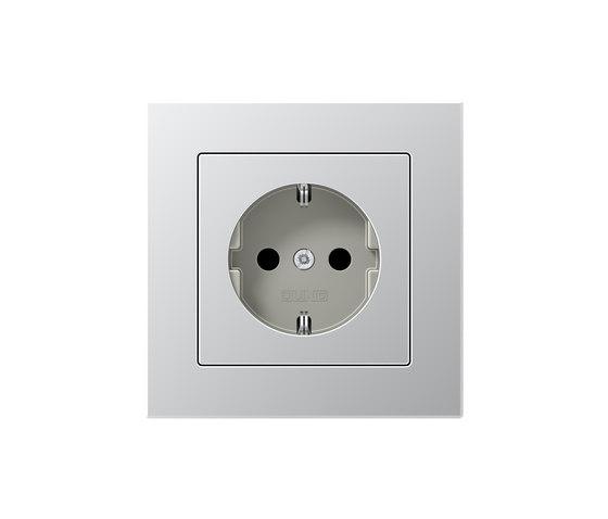A Creation | socket aluminium by JUNG | Schuko sockets