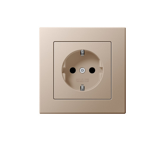 A Creation   socket champagne by JUNG   Schuko sockets