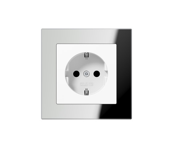 A Creation | socket silver glass by JUNG | Schuko sockets
