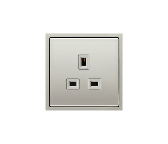 LS 990 | British Standard 13A socket stainless steel by JUNG | British sockets