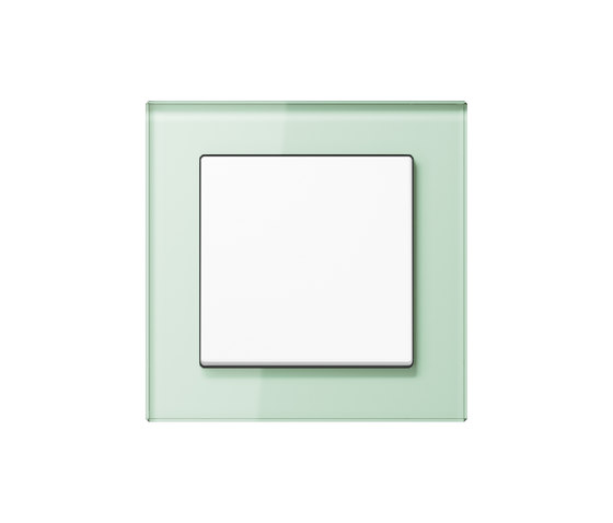 A Creation   switch soft white glass by JUNG   Two-way switches