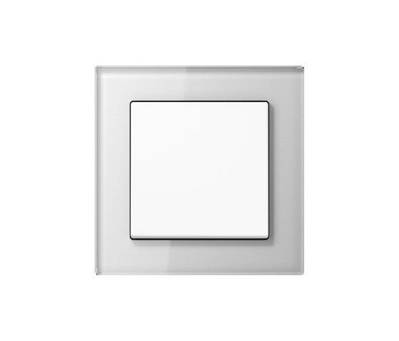 A Creation | switch white glass di JUNG | Interruttore bilanciere