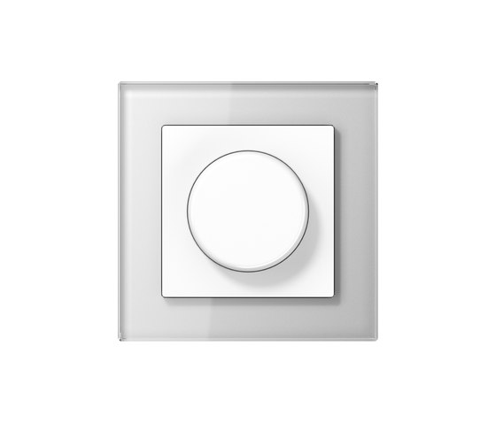 A Creation | rotary dimmer white glass di JUNG | Interruttori manopola