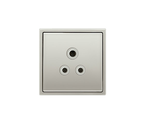 LS 990 | British Standard 5A socket stainless steel by JUNG | British sockets