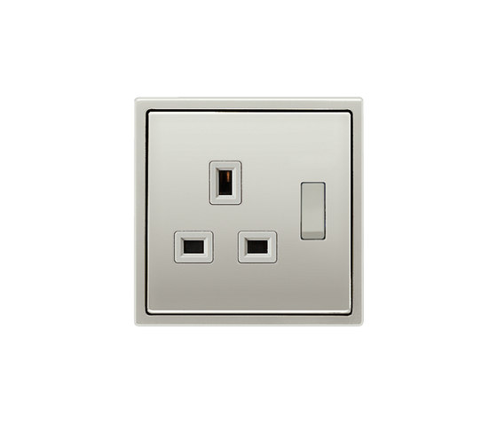 British Standard switchable 13A socket stainless steel by JUNG | British sockets