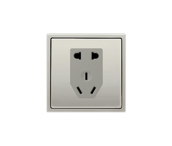 LS 990 | Chinese Standard socket stainless steel by JUNG | Chinese sockets