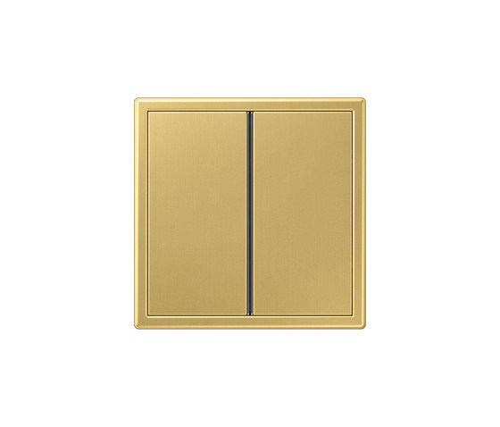 LS 990 F40 push button classic brass by JUNG | Push-button switches