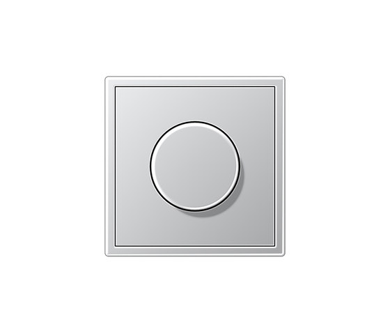 LS 990 | rotary dimmer aluminium by JUNG | Rotary switches
