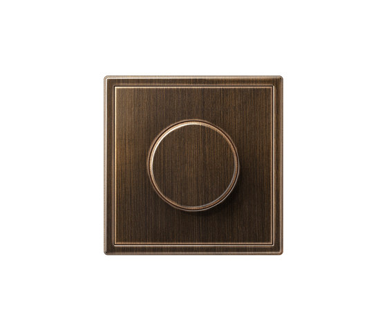 LS 990 | rotary dimmer antique brass by JUNG | Rotary switches