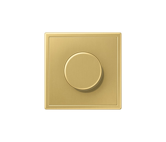 LS 990 | rotary dimmer classic brass by JUNG | Rotary switches