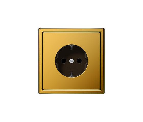 LS 990 socket 24 carat gold by JUNG | Schuko sockets