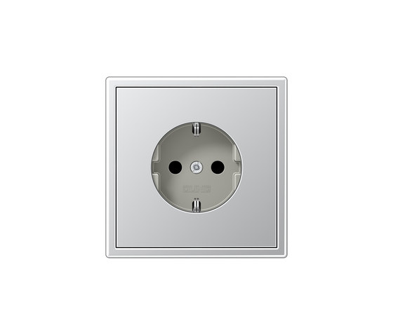 LS 990 | socket aluminium by JUNG | Schuko sockets