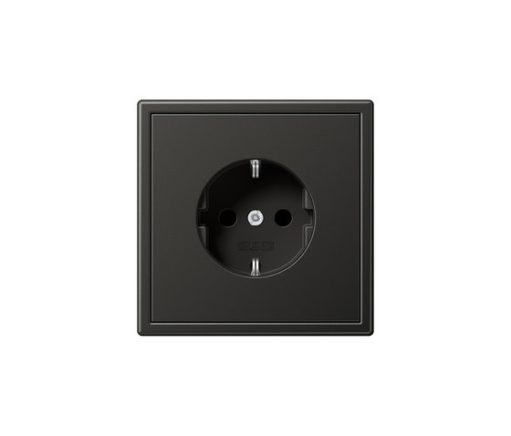 LS 990 | socket anthracite by JUNG | Schuko sockets