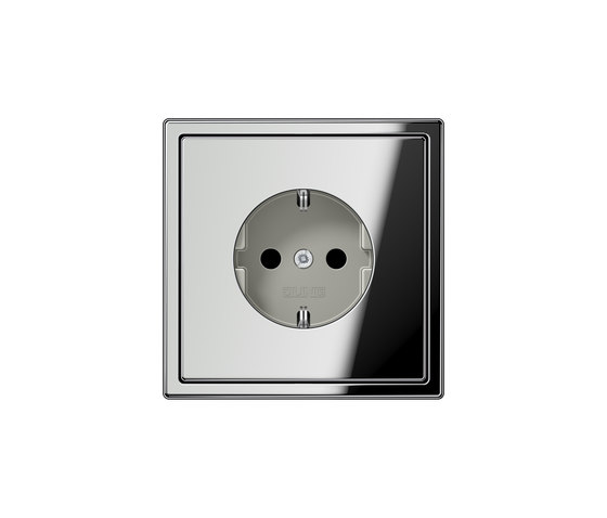 LS 990 | socket chrome by JUNG | Schuko sockets