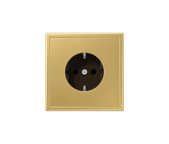 LS 990 | socket classic brass by JUNG | Schuko sockets