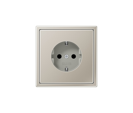 LS 990 | socket stainless steel by JUNG | Schuko sockets