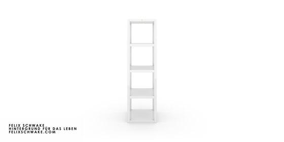ESTANTE II-IV edición especial - Laca para piano blanco de Rechteck | Estantería